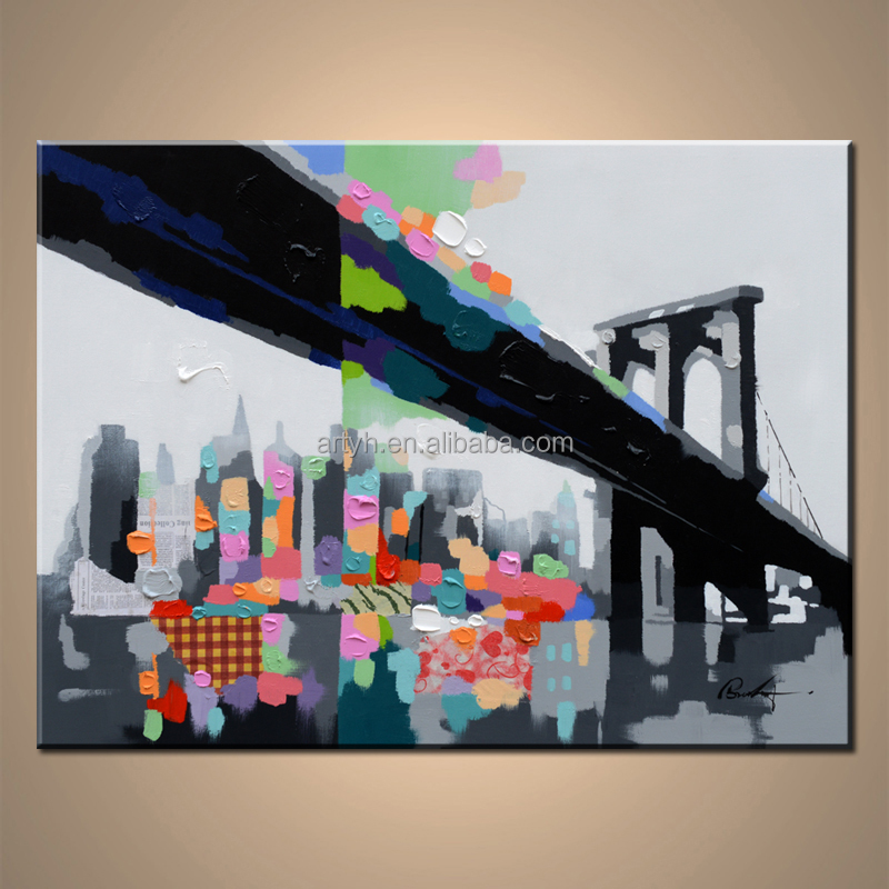 Popular abstract cityscape acrylic painting abstract images