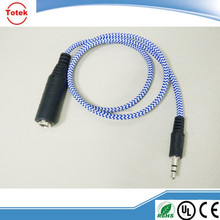 China factory supply fabric braid 1/4in audio cable