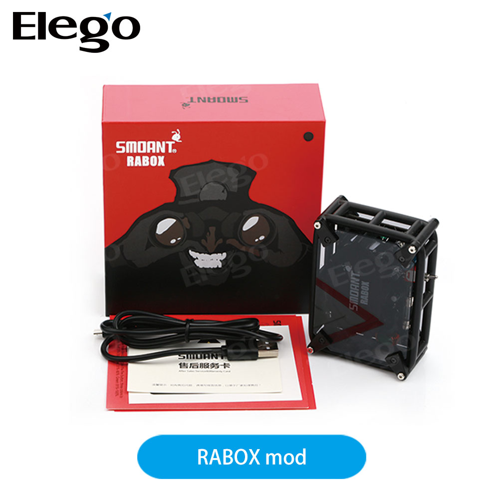 Best Selling e-cigarette Smoant RABOX 100W 3300mAh Mechanical Mod from Elego