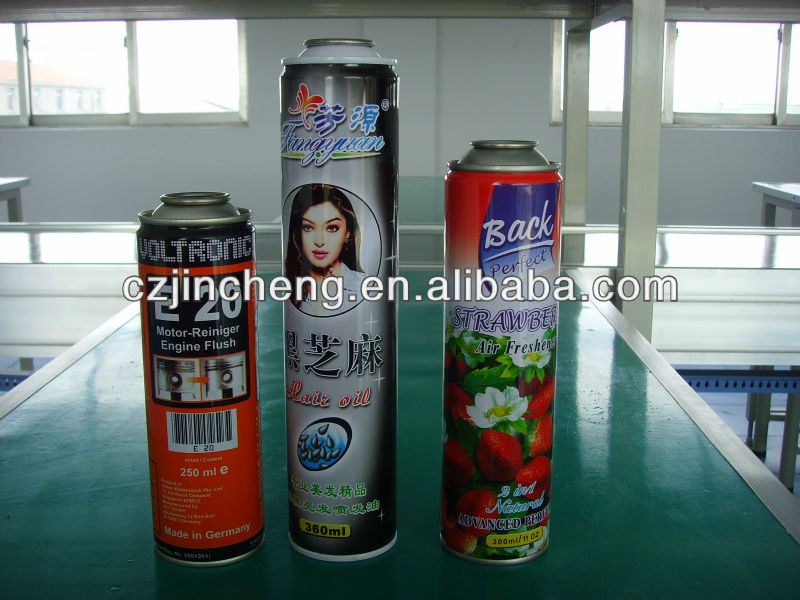 Empty tinplate cans for aerosol