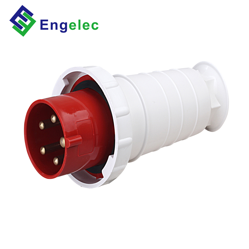 220V~380V / 240v~415v IP67 63A 3P+N+E red color PA material YHT-035 model waterproof industrial male <strong>plug</strong>