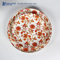 Colorful Glaze High Quality Ceramic Porcelain Round Lovely Home Use 8 inch Dinner Plates Sets