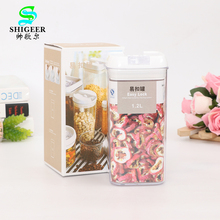 Factory direct Sale high seal transparent Plastic box Airtight 1.2L Square easy lock food containers