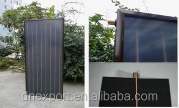 China Manufacturer Black Chrome Coating Flat Plate Solar Thermal Collector Flat Panel Solar Collector For Solar Water Heater