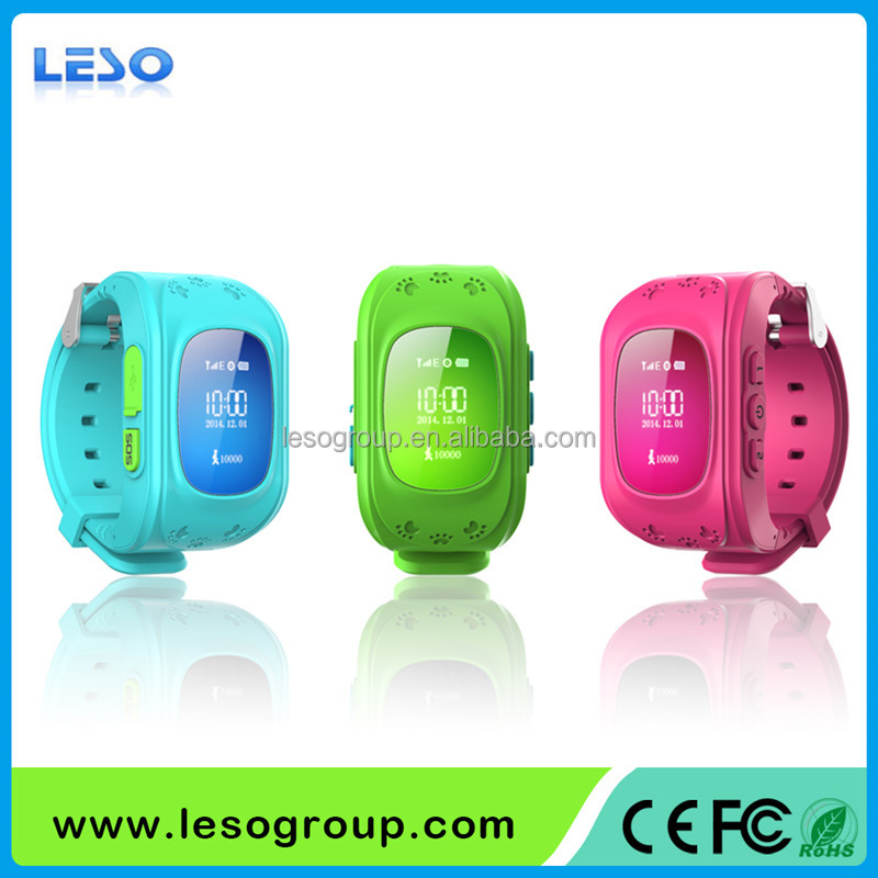 GPS Kid Locating Tracker Smart Wristwatch Watch with SOS Button