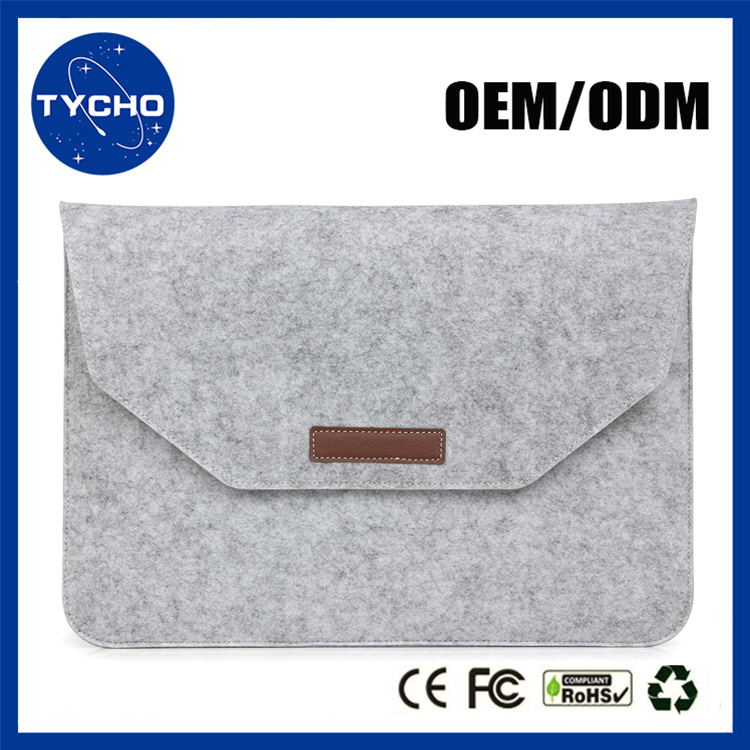 PU Leather wool felt bag for macbook air 11.6 12 13.3 retina 15.4 inch laptop Sleeve with mouse pouch bag