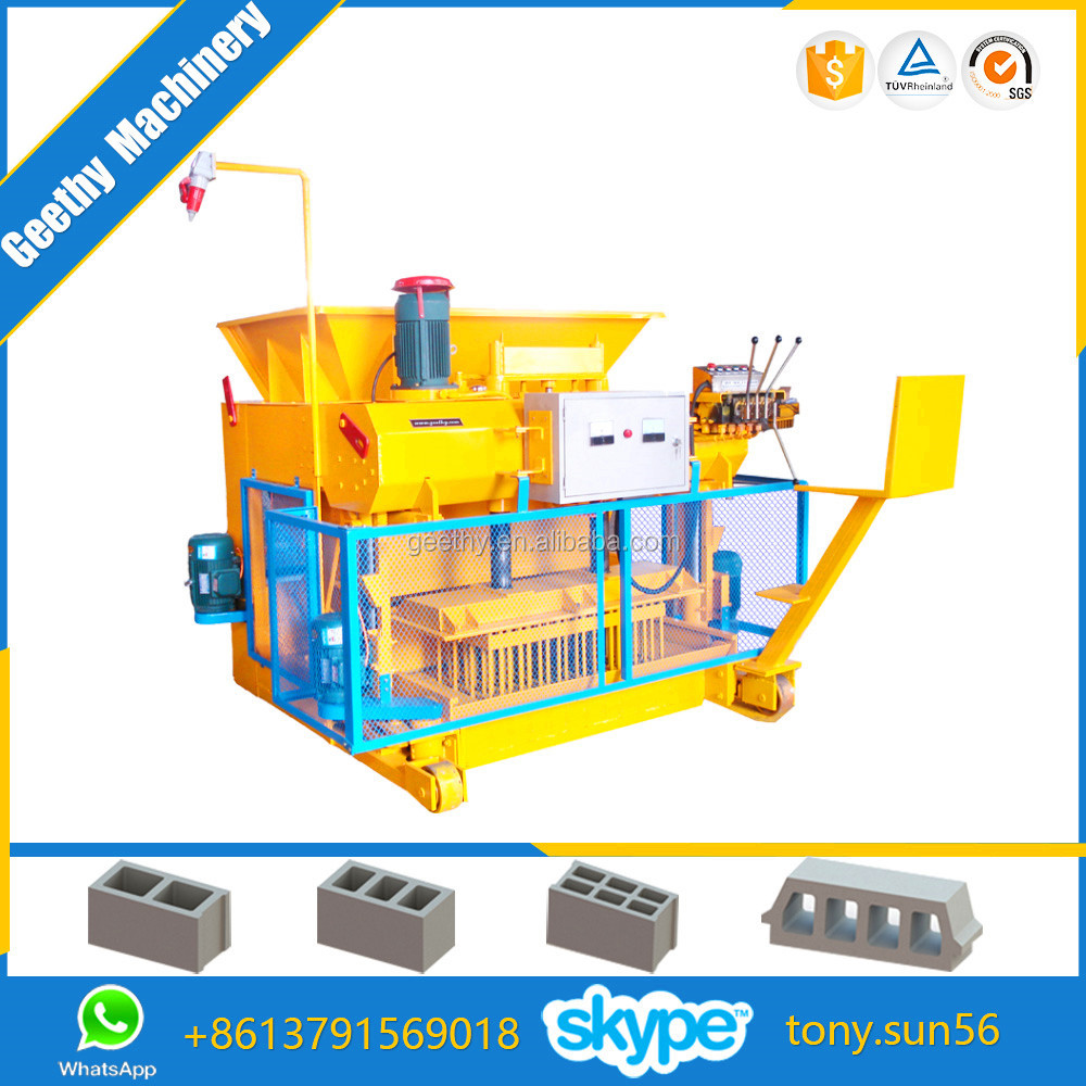 QMY6-25 mobile hollow bricks machine indian price