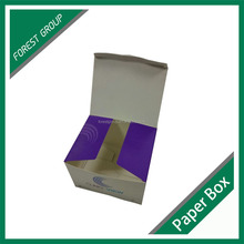 Cardboard box paperboard box with UV varnishing recyclable material