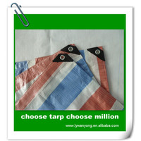 115gsm pe coated stripe roofing cover tarpaulin fabric vietnam