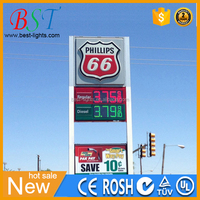 Service Gas station Digital Signage Solutions LED Advertising Digital Fuel Price Signs