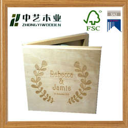 Wedding CD Music Video Wedding Photographs Personalised Wooden CD case wedding DVD box wood packaging box