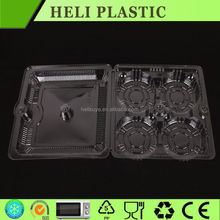 folding clear 4 compartments insert cookie tray with cover