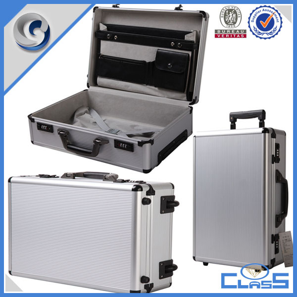 MLD-TC133 customed trolley aluminum high quality wooden music instruments case