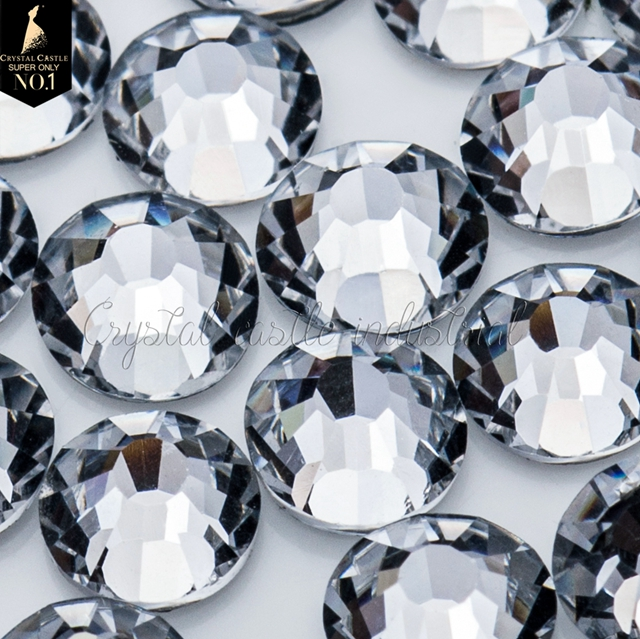 10ss baby's clothes decoration crystal white flat back loose glass crystal hotfix gemstones