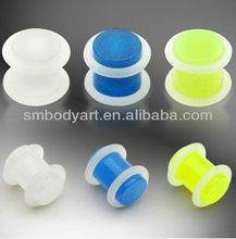 Glow In The Dark Jewelry Ear Gauges With Double O-rings Ear Plug Expander Piercing AMEK13032802