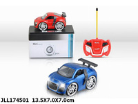 Promotional Flashing electric toy car kit self-assembly rc car in china