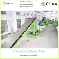 Dura-shred full-automatic car tire crusher machine for sale