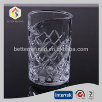 embossed diamond cut mixing glass