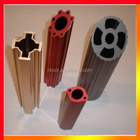 Anodized Custom Color frosted CNC multi-port extruded aluminium tubes
