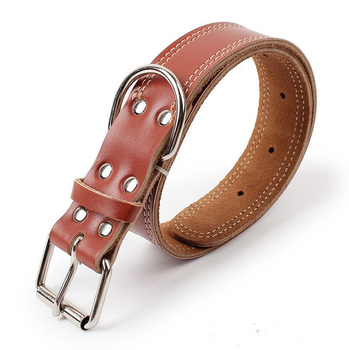 2018 new product custom print logo leather dog leash collar