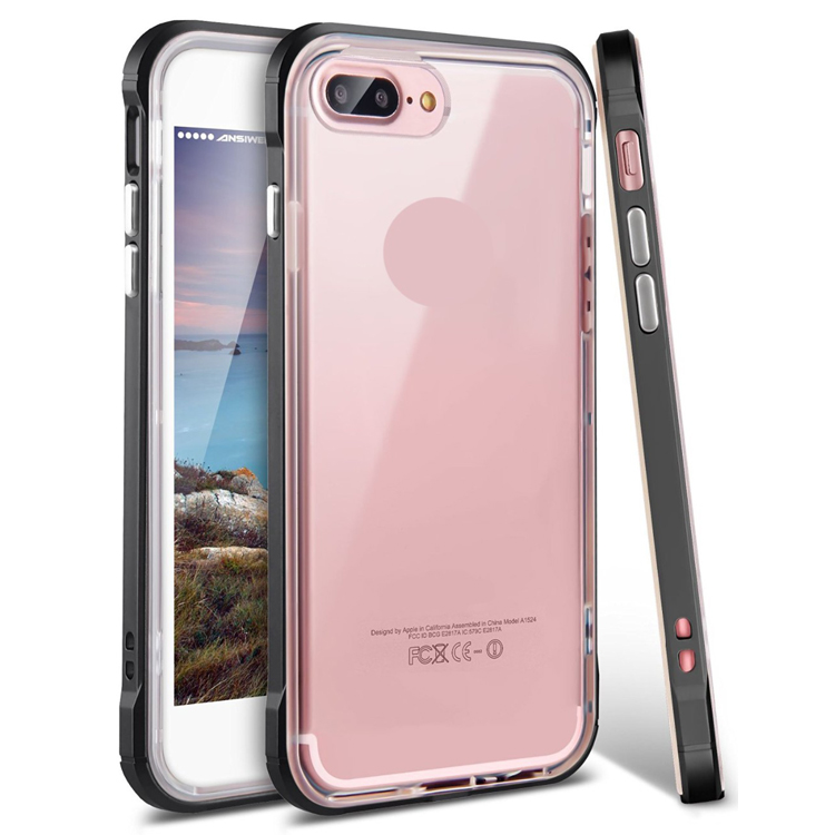 Waterproof Dust Proof Hybrid Transparent Hard Bumper Silicone Cell Phone Case for iPhone 6 6S