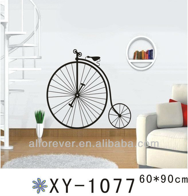 one wheel bike wall sticker home decor