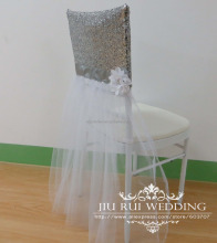 Luxury Sequin & Tutu Chair Cap Chair Cover for Wedding Decor