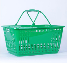 Plastic collapsible basket handle shopping basket