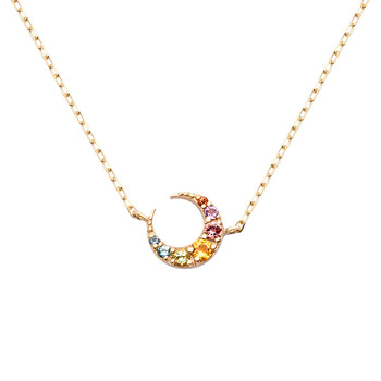 Star moon pendant necklace 18k gold plated collar necklace