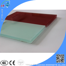 Color milky laminated safety glass
