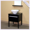 26'' Modern Concise Style Espresso Wooden Bathroom Furniture w/ Ceramic Sink