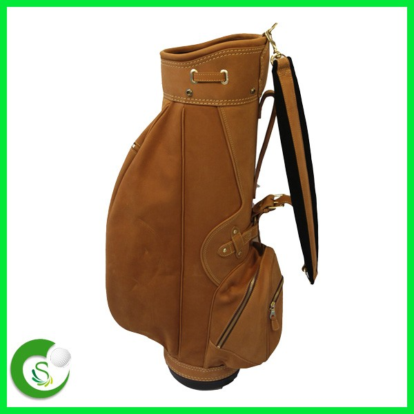 Personalized Luxury Genuine Leather Golf Bag