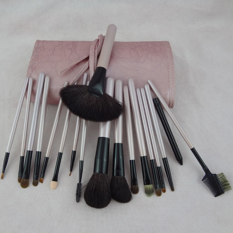 High quality pink18 pcs makeup brush air brush compressor kit