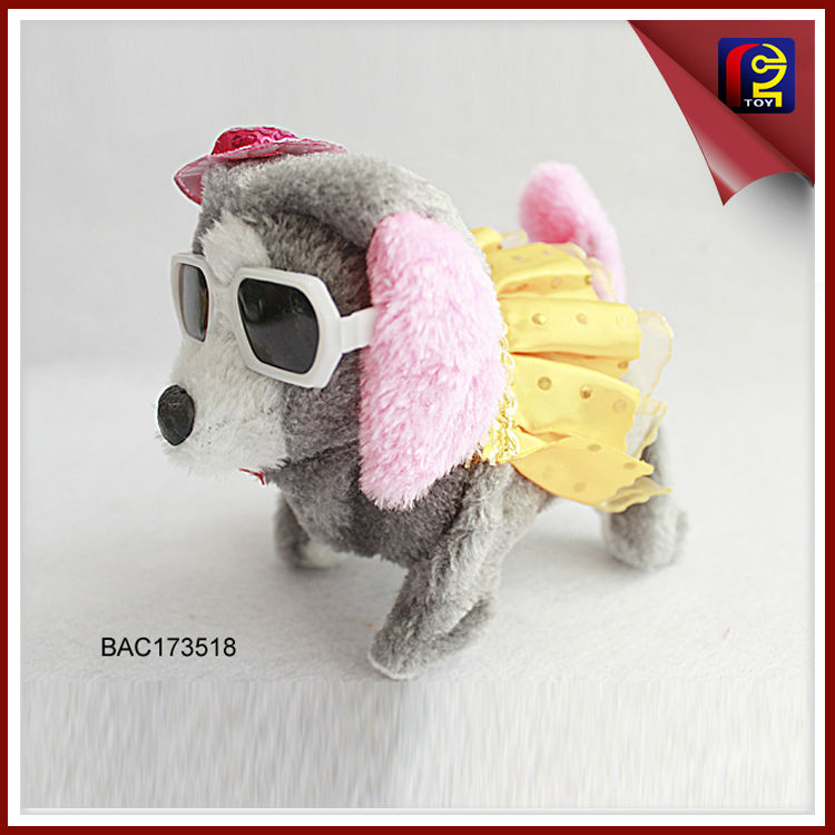 B/O animal sound plush dog toy BAC173518