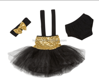 china product and low price wholesale baby sequin tutu set with tutu and bloomer and headband for 0- 5 years baby girls