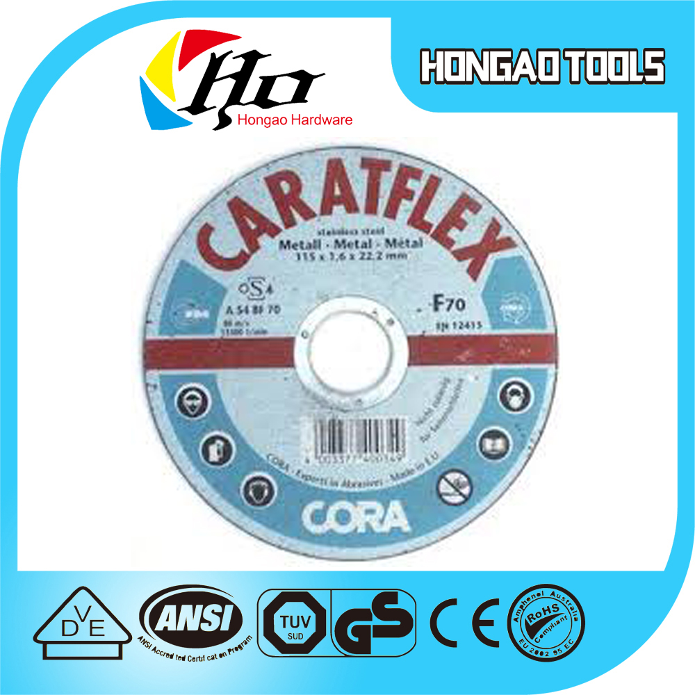 Fibreglass Good quality customize Reinforced Depressed Center WA Grinding wheels For metal/marble/stainless steel