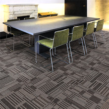 Commercial PP Multi-level Loop Pile PVC Backing Carpet Tile
