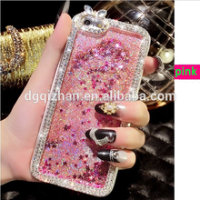 Dongguan factory OEM or ODM liquid quicksand effect plastic cell phone cover