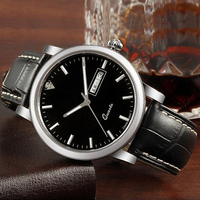 Leather factory direct sell branded men watch 2016 simple design for men