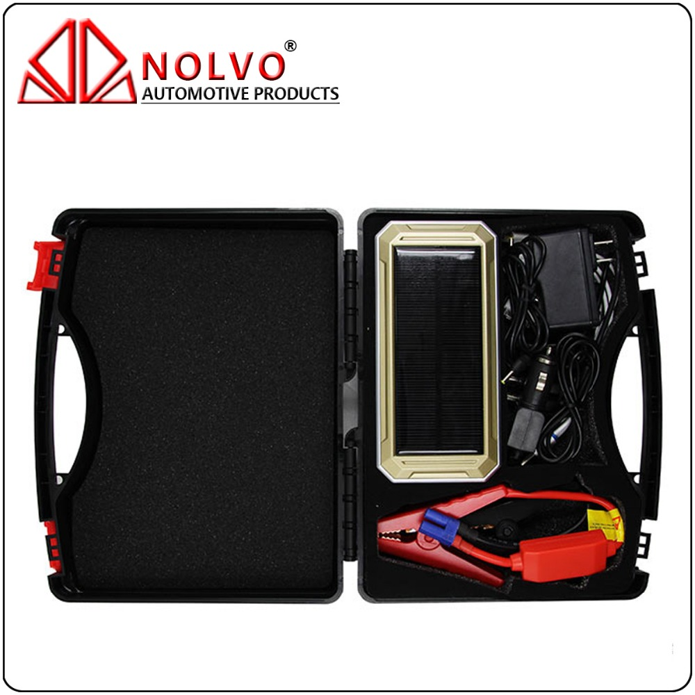 18000mAh Jump Starter 6.0L Petrol/4.0L Diesel Solar Charge Car Power Bank Auto Battery Booster Pack Smart Jumper Cable