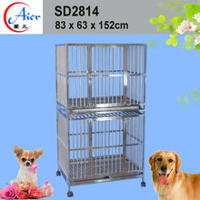 strong iron double modular dog cage kennel crate for sale