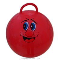 Full size PVC jumping ball Hopper ball with handle for kids