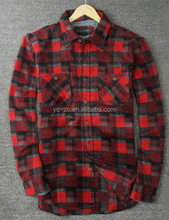 2016 designer custom yarn dyed flannel funky shirt for men