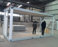 convenient loading and shipping dining prefabricated container house price