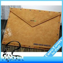 Genuine band briefcase PU leather carrying case for ipad 3