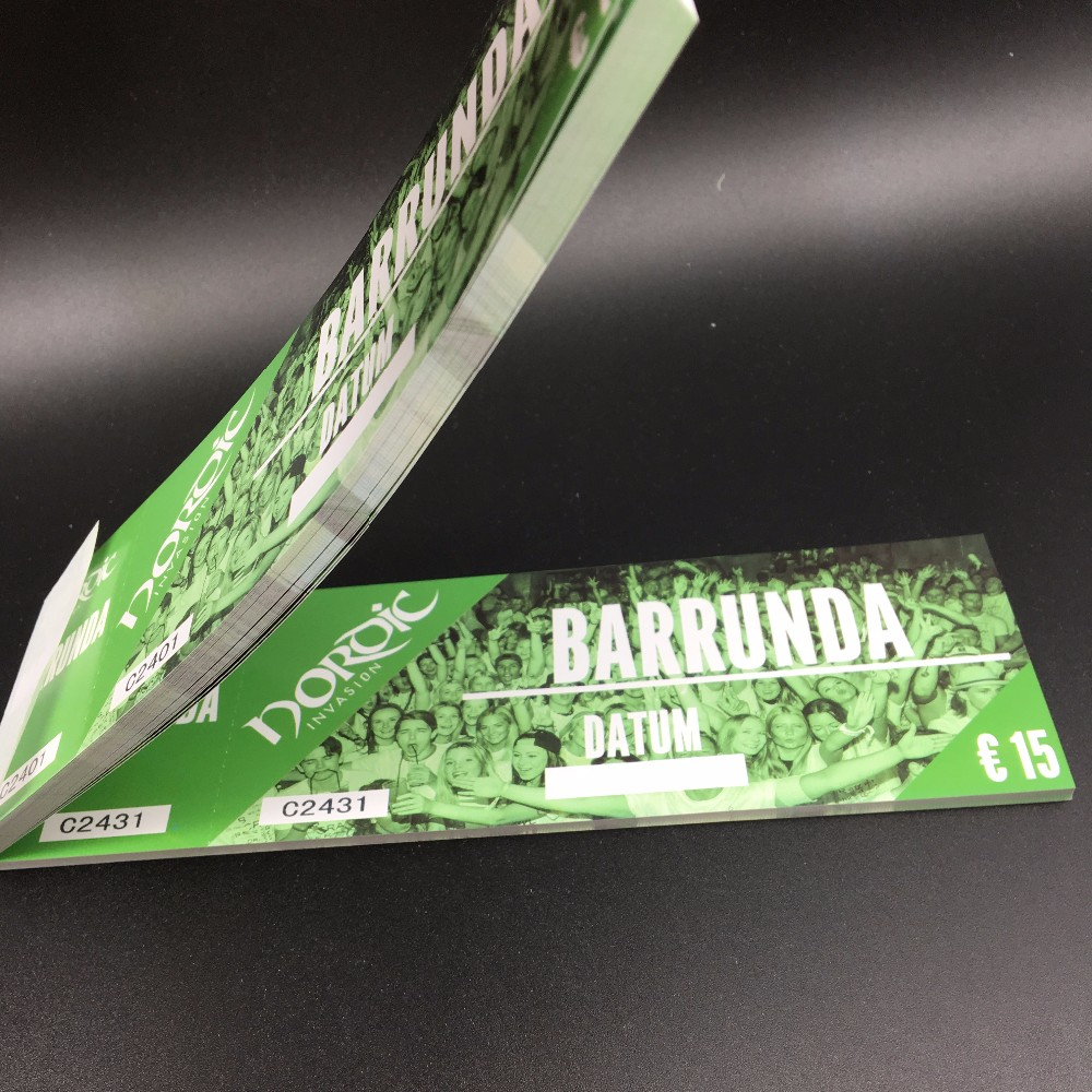 Customized paper printing admission ticket printing