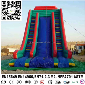 Commercial inflatable customized dry slide for kids and adults for sale