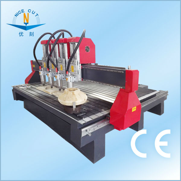 NC-1325 Four Heads CNC Wood Router with DSP Controller