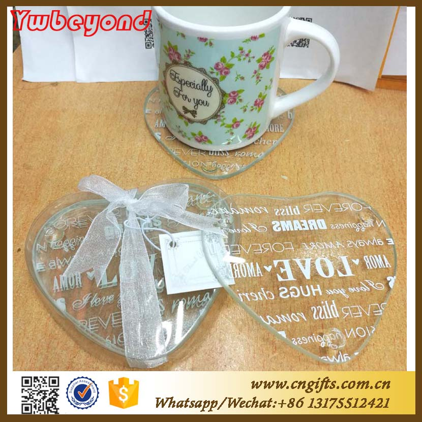Ywbeyond Indian <strong>Wedding</strong> Return Gift heart shaped Glass Coaster Birthday giveaways souvenir <strong>Wedding</strong>