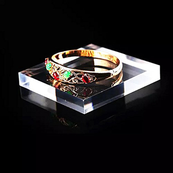 Acrylic Block Platform Jewelry Display Ring Necklace Bracelet Watch